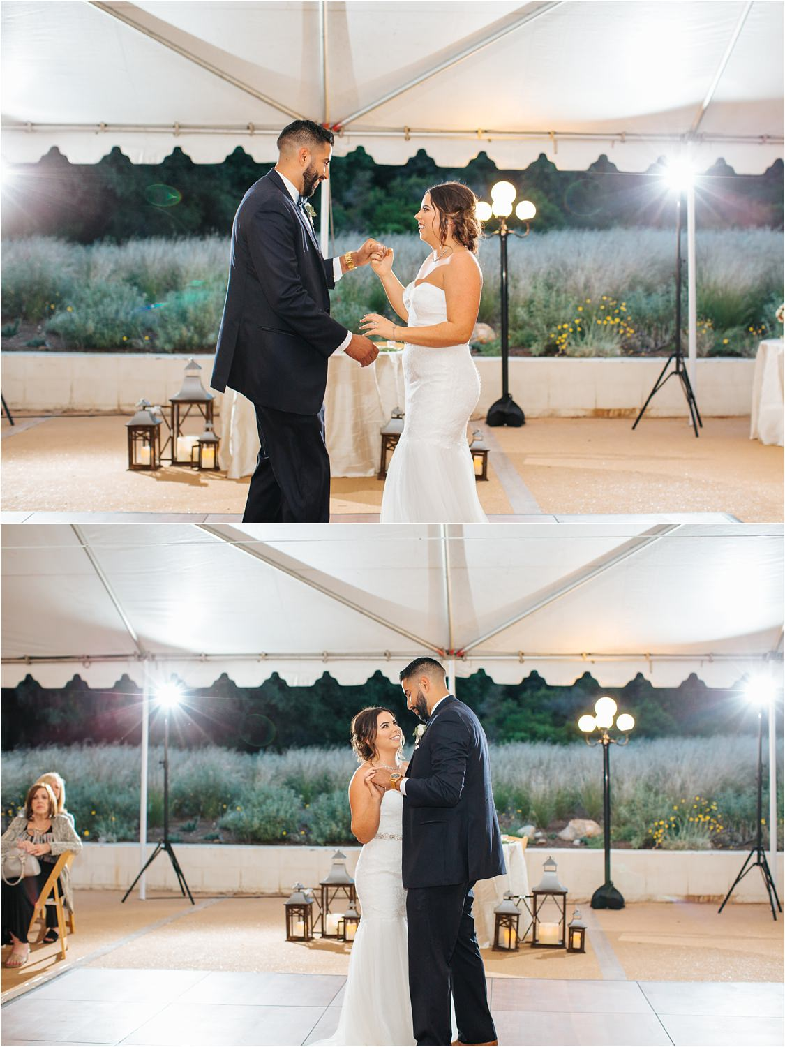 Bride and Groom's first dance during wedding reception - http://brittneyhannonphotography.com