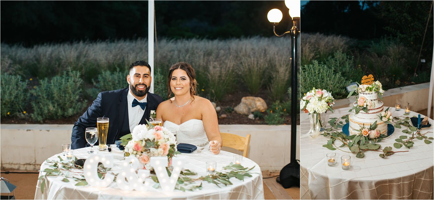 Sweetheart Table and Wedding Cake - http://brittneyhannonphotography.com