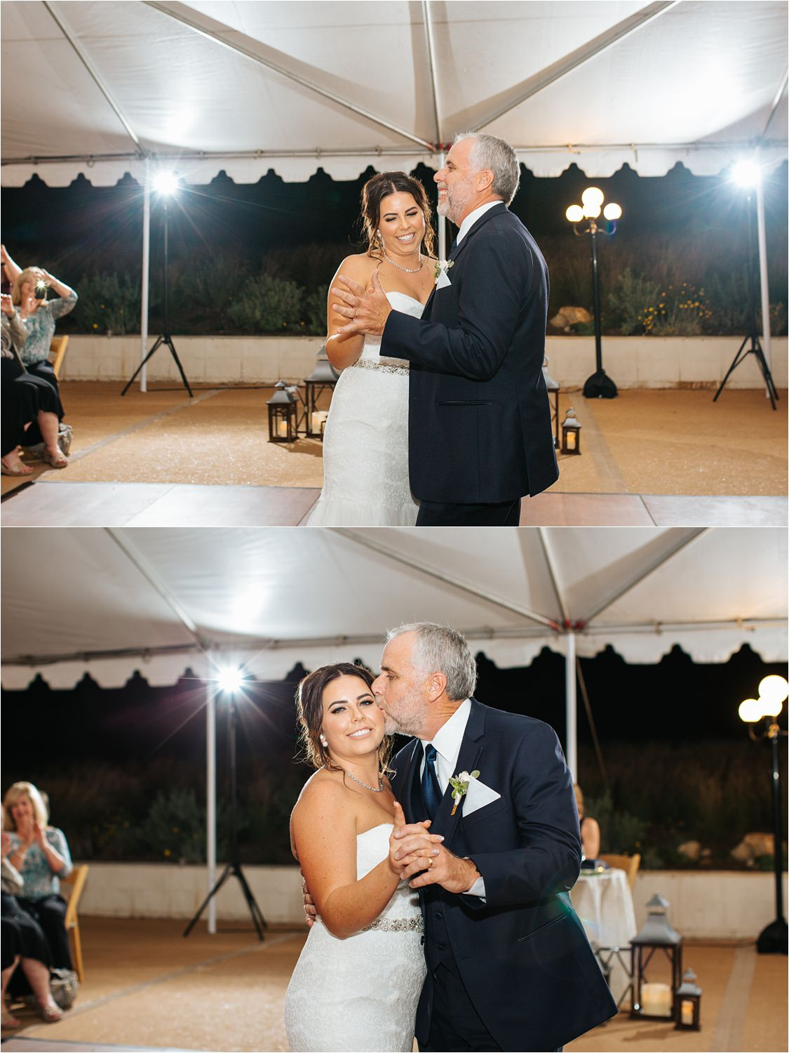 Father and Daughter dance during wedding reception - http://brittneyhannonphotography.com