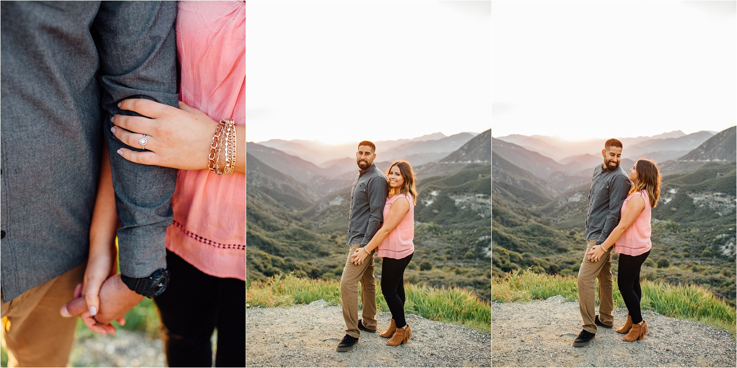 Warm romantic engagement photos in the mountains - http://brittneyhannonphotography.com