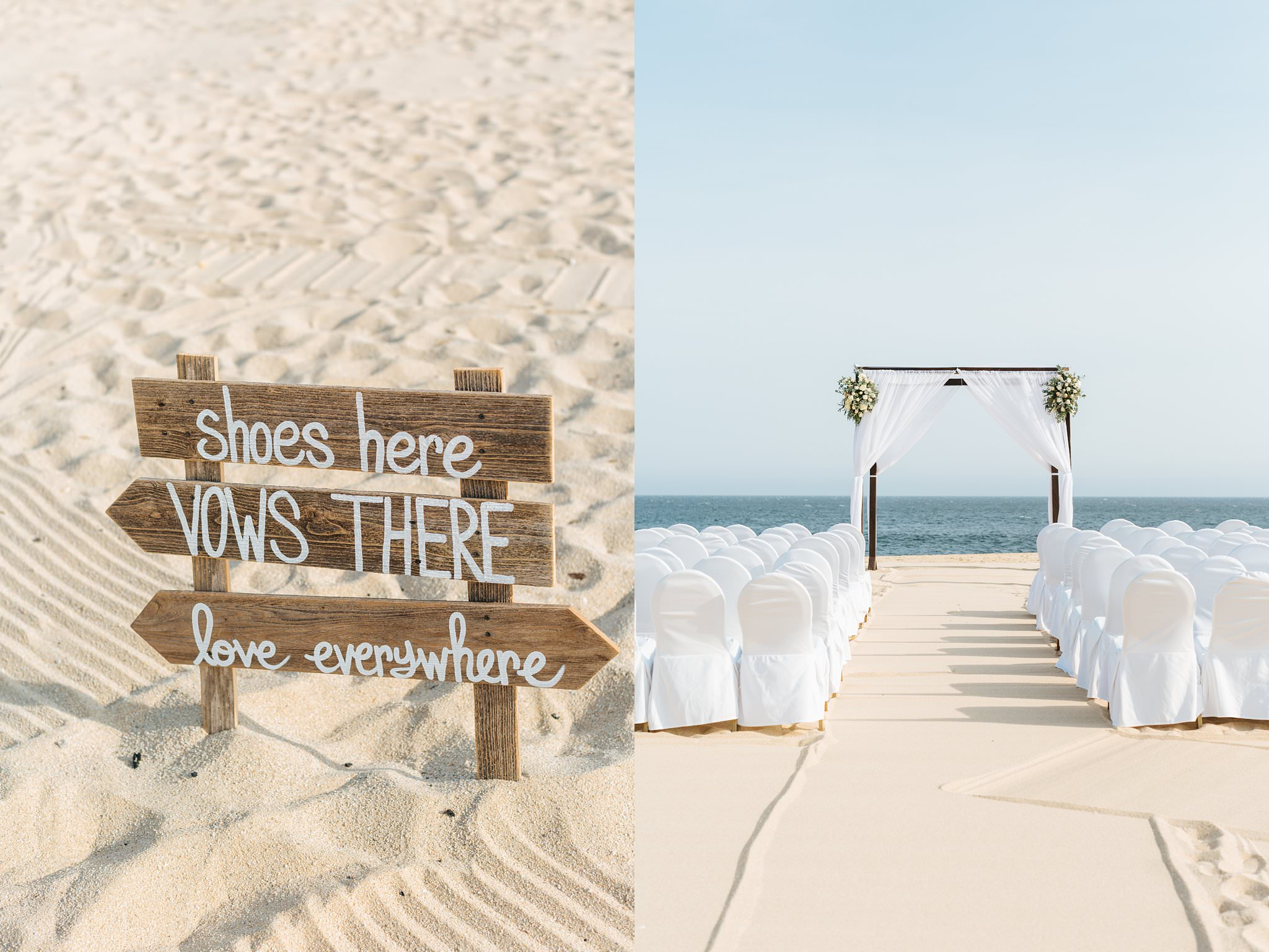 Cabo Beach Wedding - Wedding Ceremony Details - https://brittneyhannonphotography.com