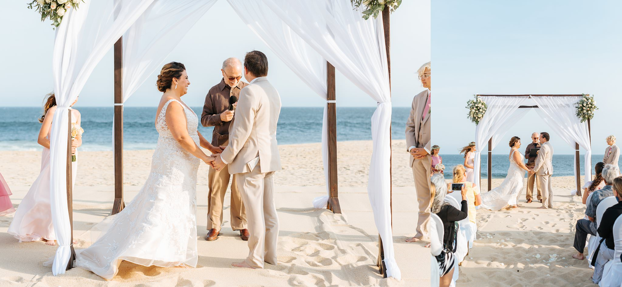 Saying vows on the beaches of Mexico - Cabo Beach Wedding - https://brittneyhannonphotography.com