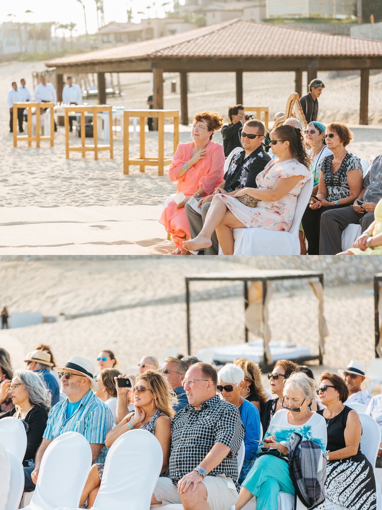 Guests during beach wedding in Cabo - https://brittneyhannonphotography.com