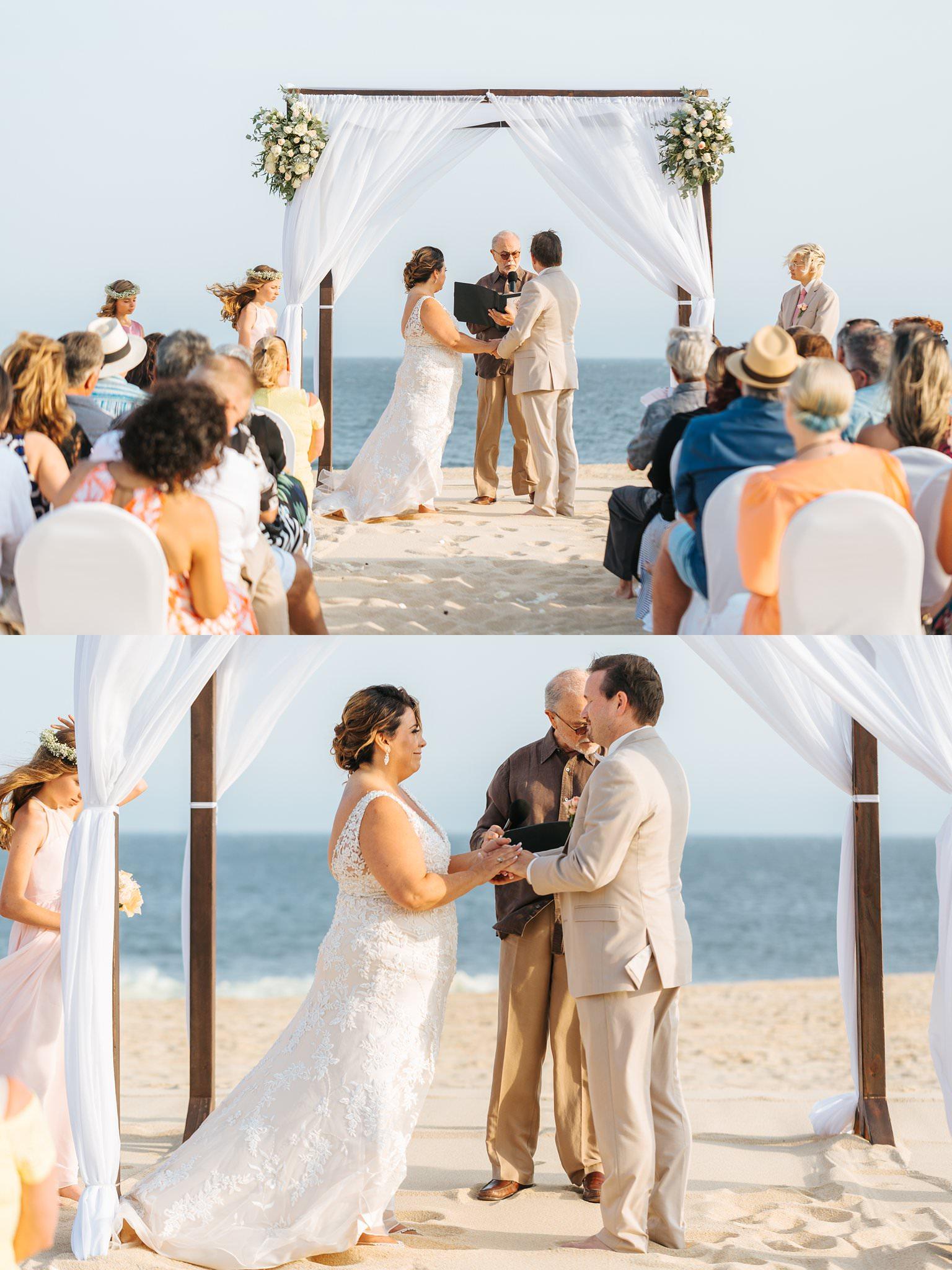 Beach Ceremony in Cabo - Destination Wedding - https://brittneyhannonphotography.com
