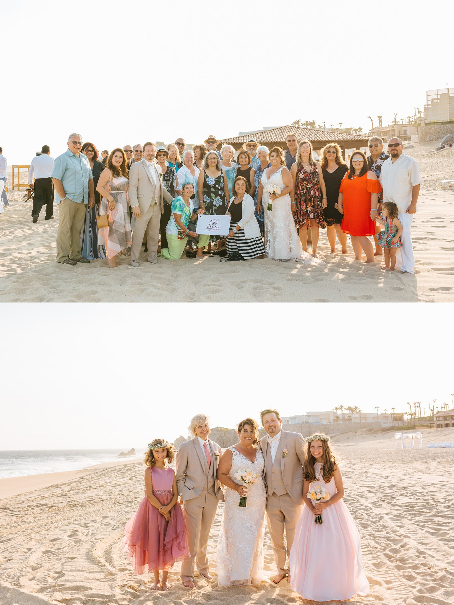 Family photos on the beach in Cabo - https://brittneyhannonphotography.com