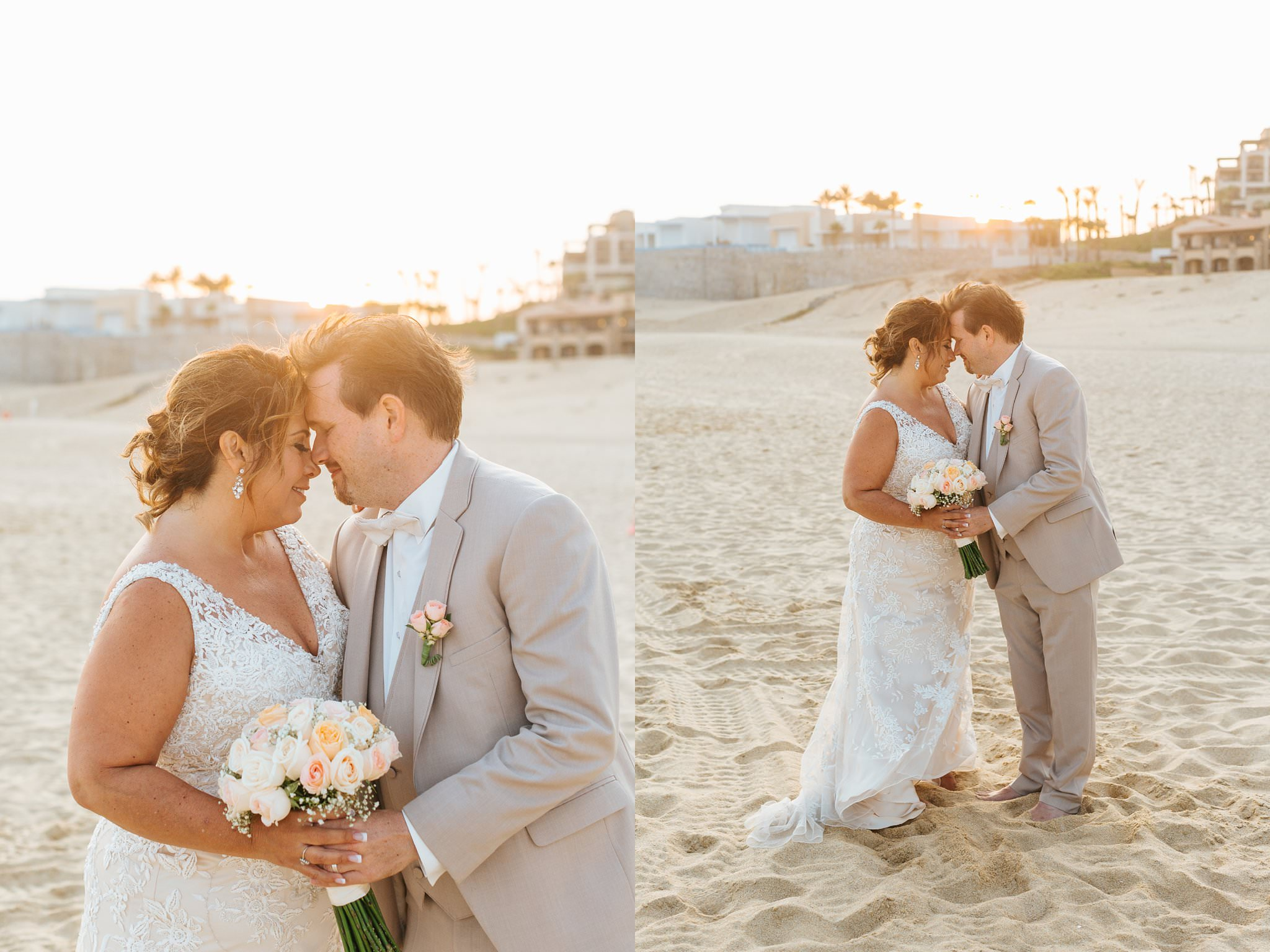 Sunset bride and groom photos in Mexico - Cabo Destination Photographer - https://brittneyhannonphotography.com