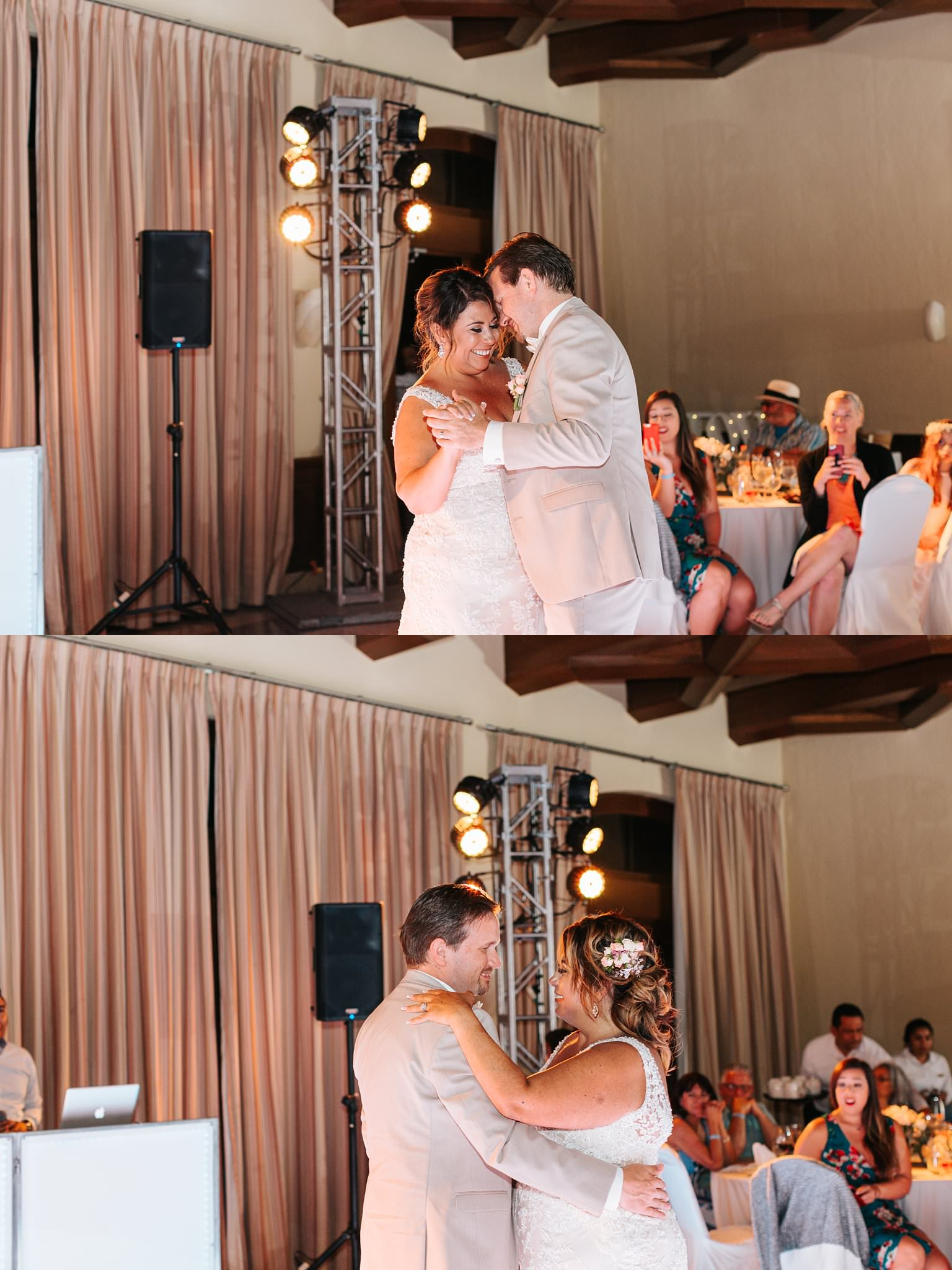 romantic first dance during destination wedding in cabo san lucas, mexico - httos://brittneyhannonphotography.com