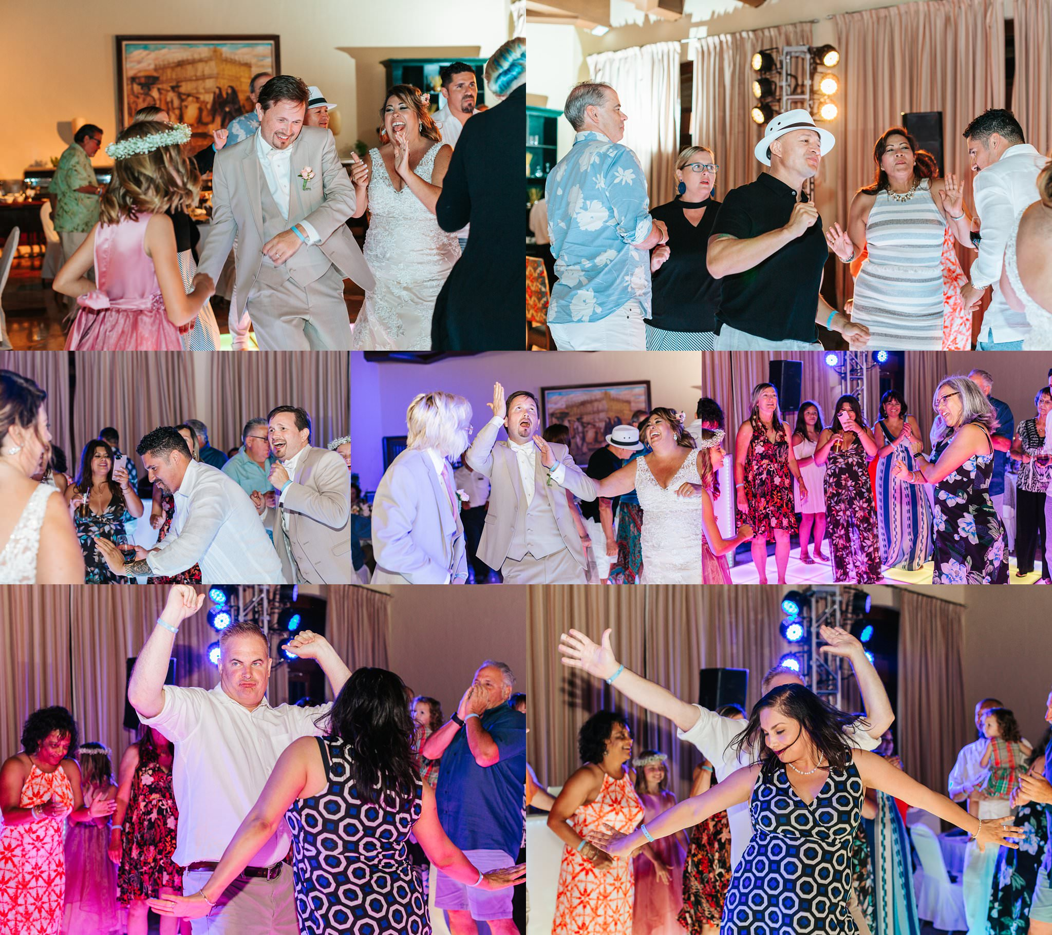 Dancing during the reception - Cabo Resort Destination Wedding - https://brittneyhannonphotography.com