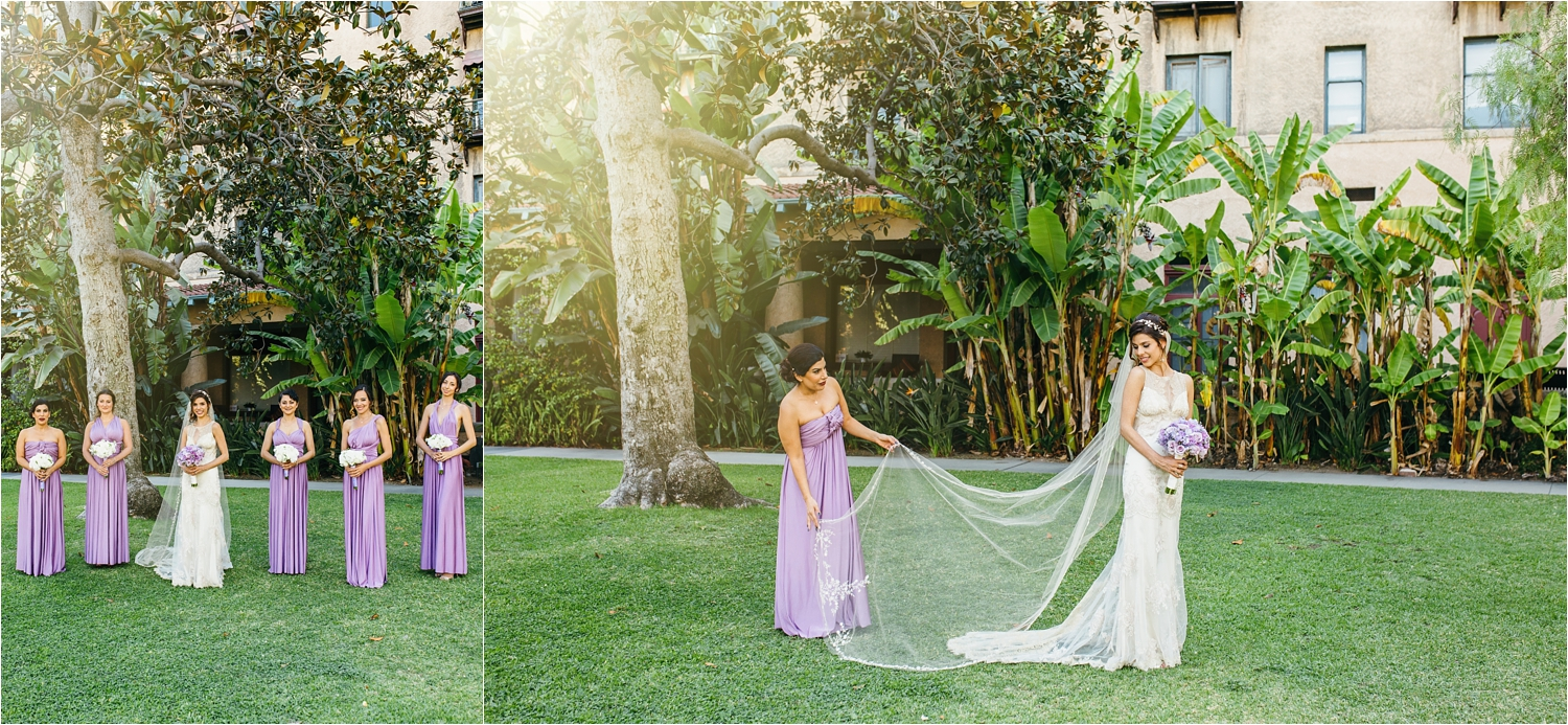 beautiful bride and her bridesmaids southern california wedding