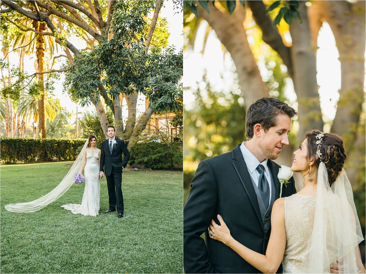 bride and groom photos during golden hour