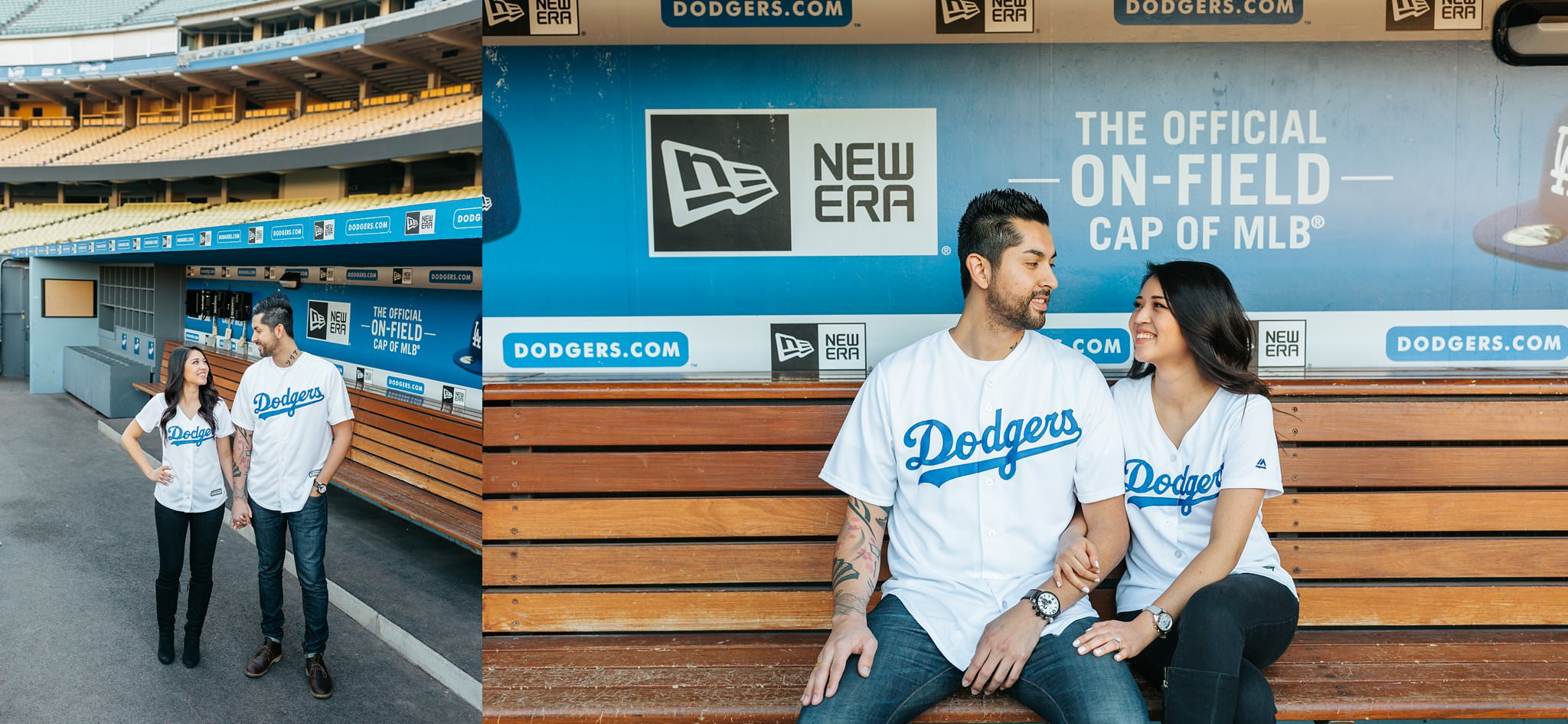 Dodger Stadium Engagement Session - Los Angeles, CA - http://brittneyhannonphotography.com