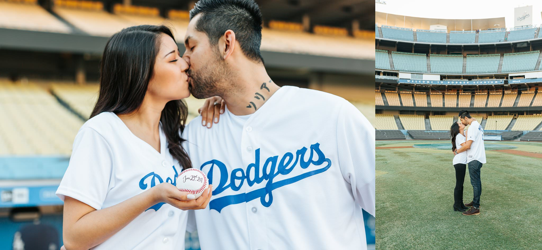 Lets go Dodgers - Dodger fan engagement session - Los Angeles - http://brittneyhannonphotography.com