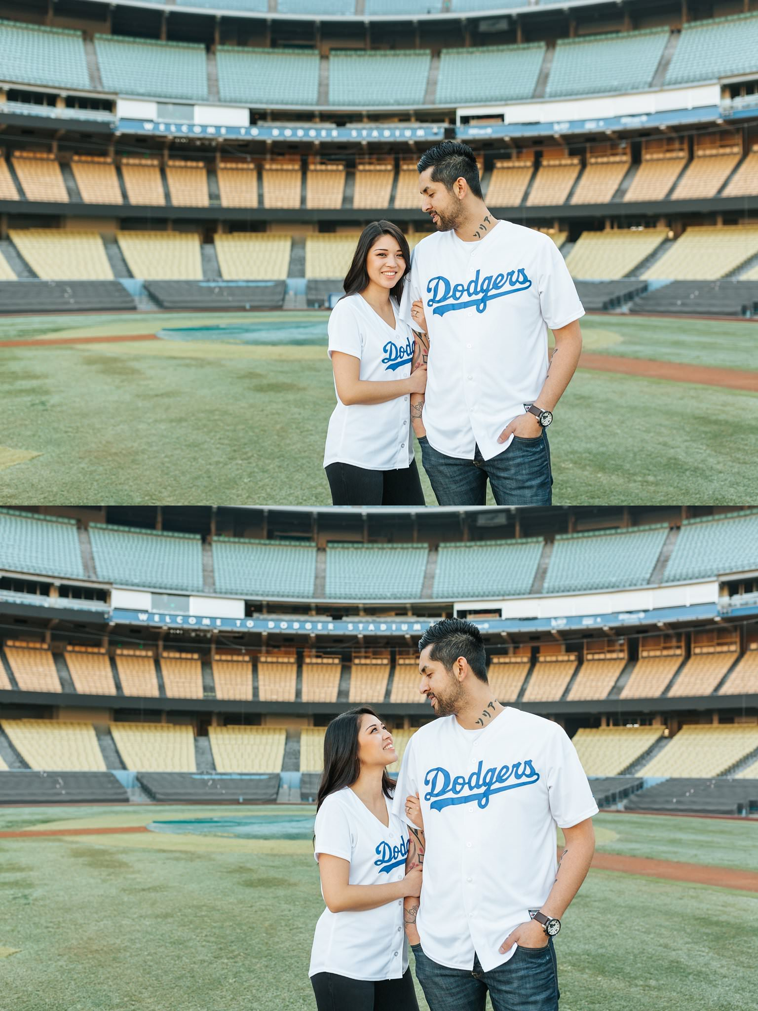 Dodger fan engagement photos - http://brittneyhannonphotography.com