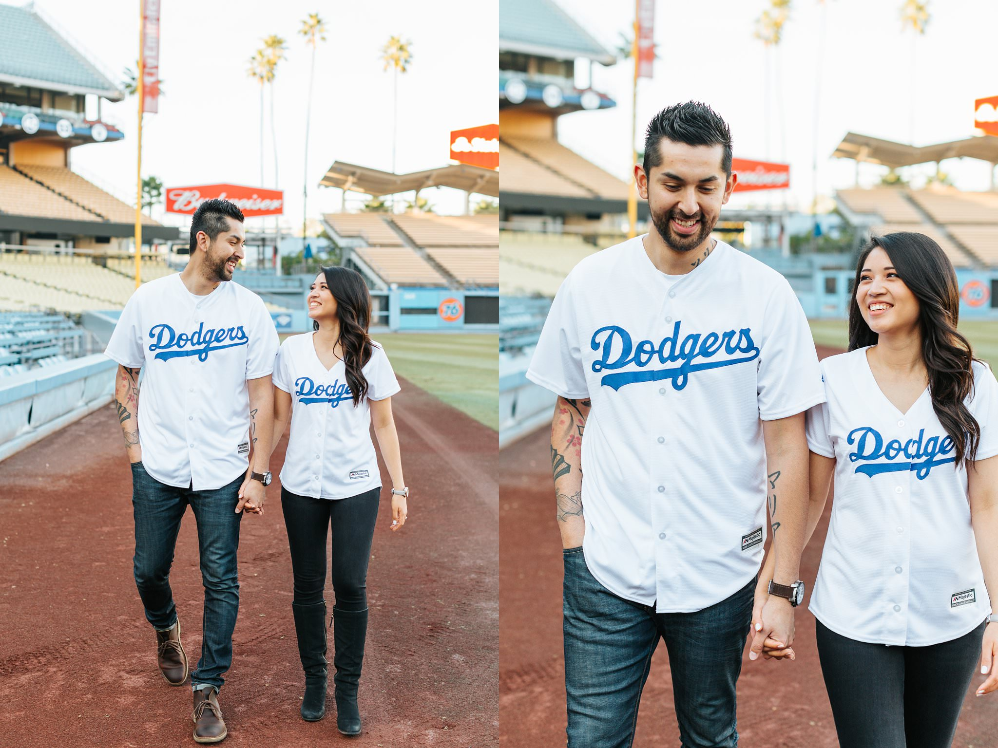 Dodger Stadium Photography - Engagement Session at Dodger Stadium - http://brittneyhannonphotography.com