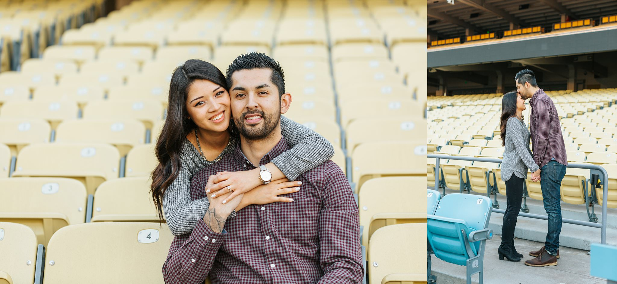 Dodger fan engagement session in Los Angeles, CA - http://brittneyhannonphotography.com