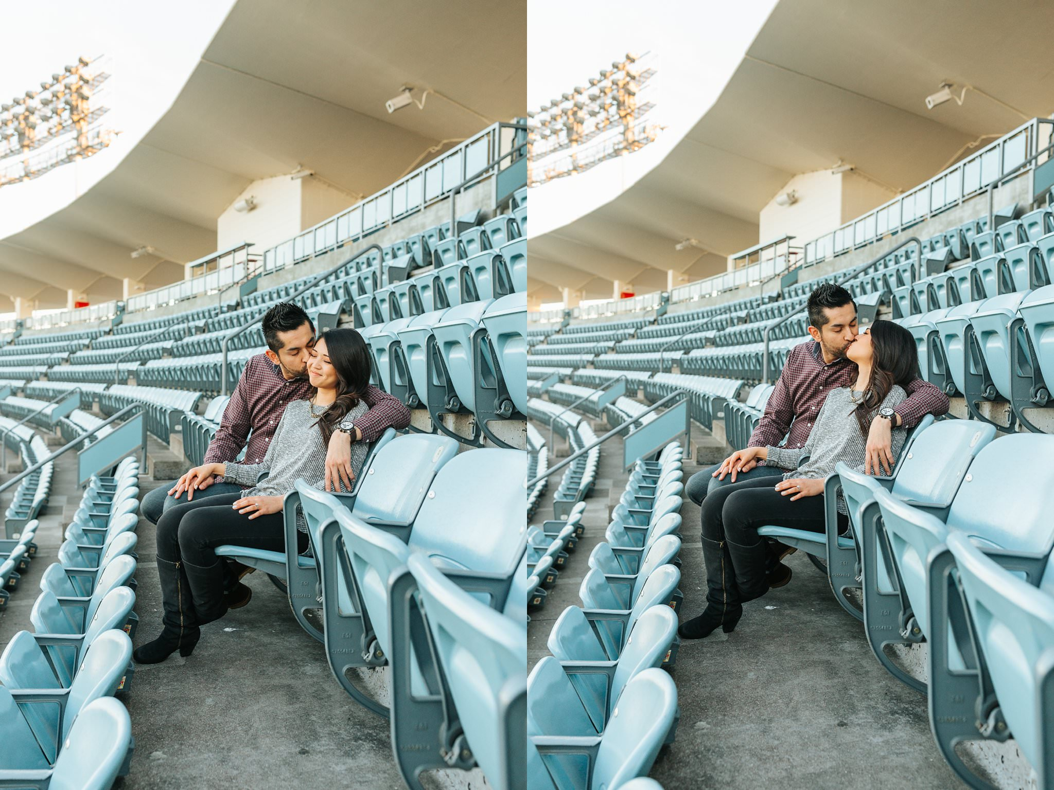 Lets go Dodgers - Dodger fan engagement session - http://brittneyhannonphotography.com
