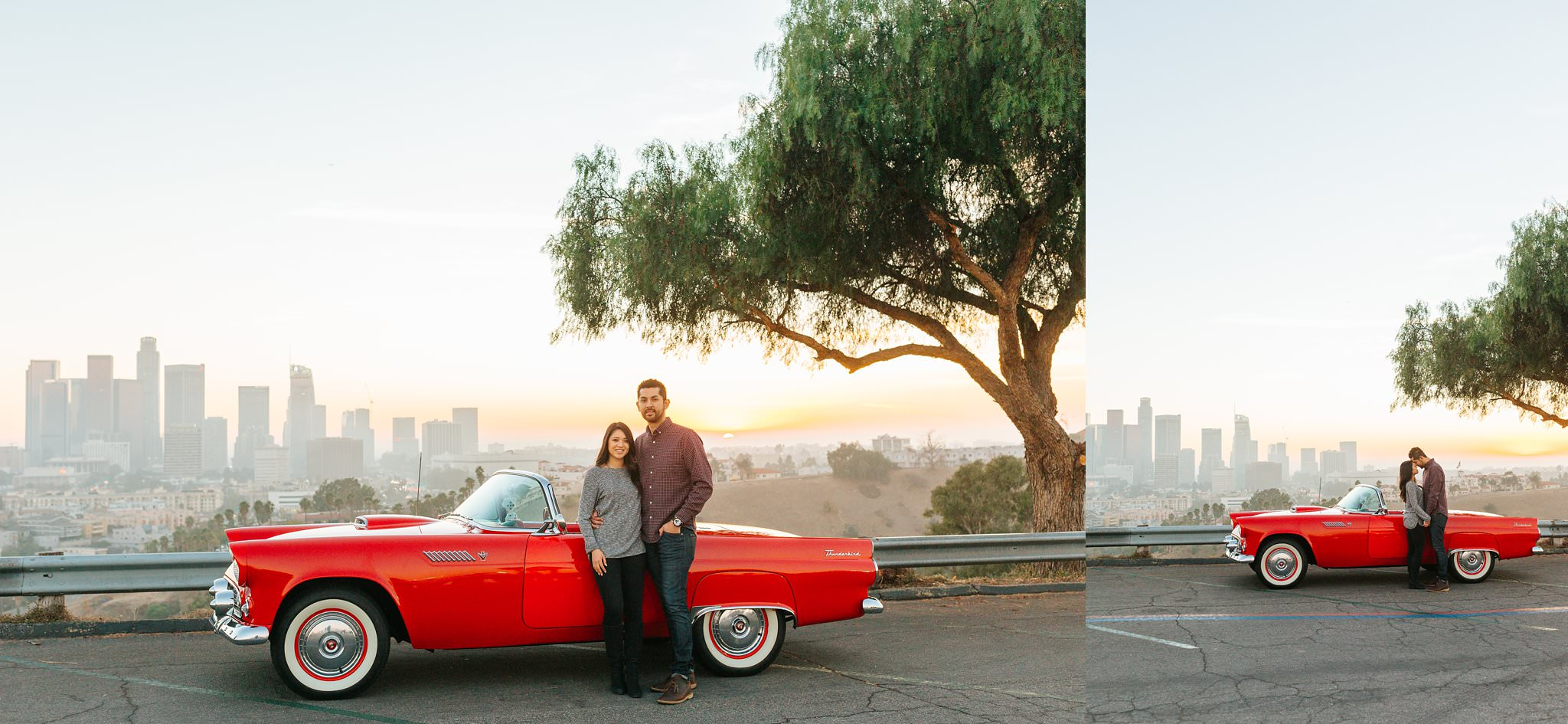 LA Skyline - Los Angeles Engagement Photographer - http://brittneyhannonphotography.com