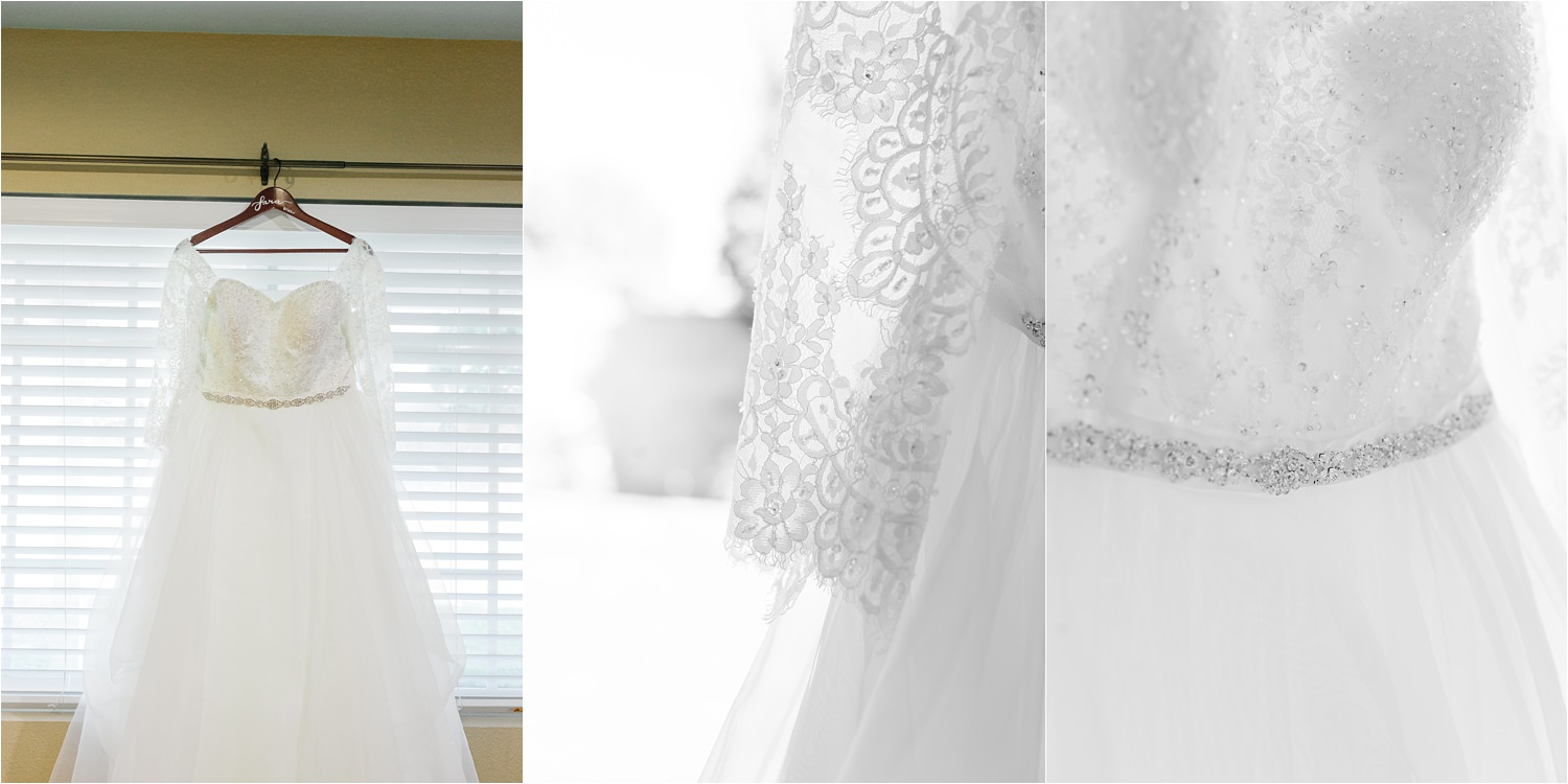 Lace Wedding Dress - Lace Details - Wedding Dress - https://brittneyhannonphotography.com