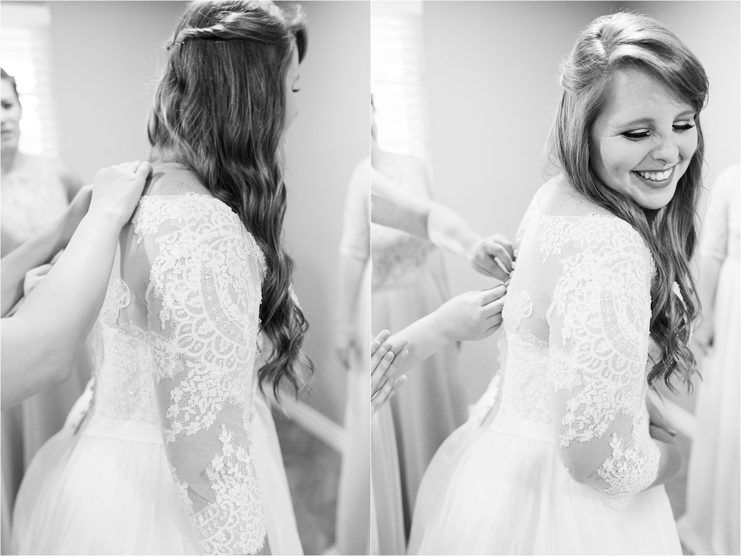 Black and White Wedding Photos - https://brittneyhannonphotography.com