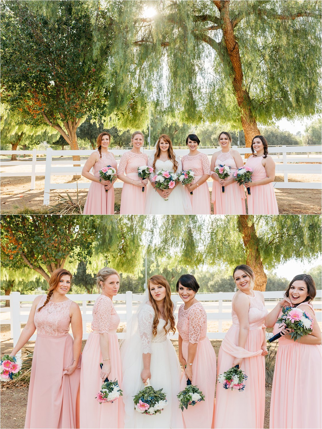 Bride and Bridesmaids Photos at McCoy Equestrian Center - https://brittneyhannonphotography.com