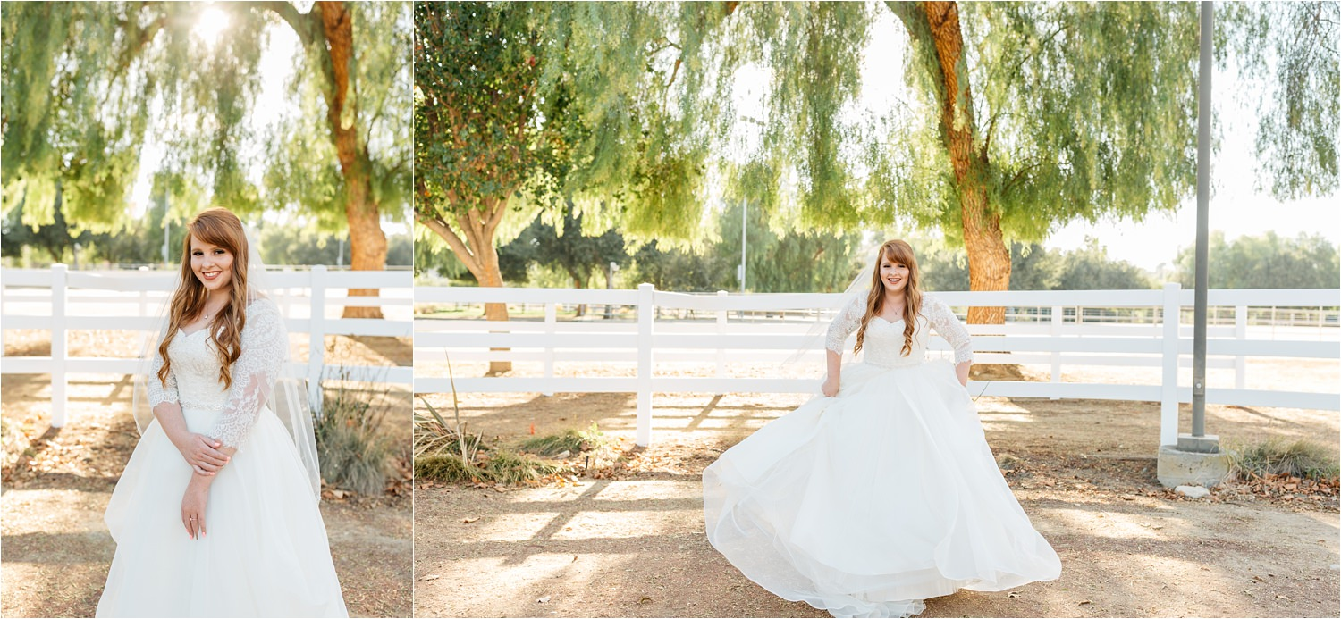 Bride in lace wedding dress - November bride - fall wedding - https://brittneyhannonphotography.com