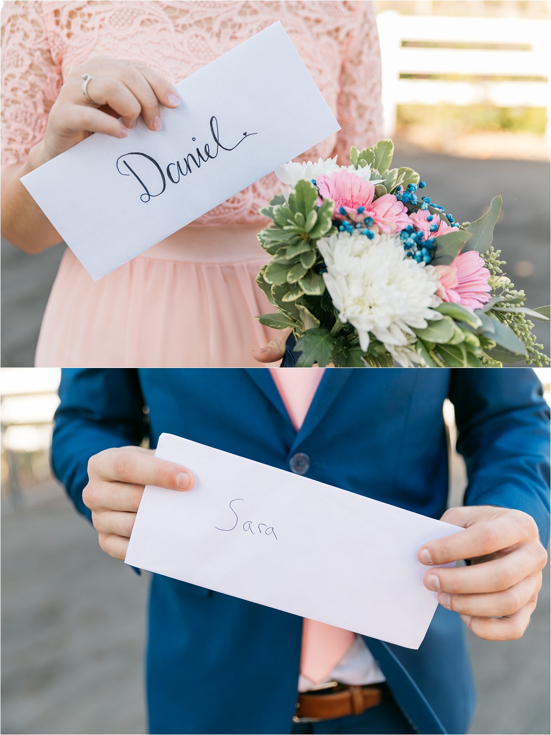Bride and Groom handwritten love notes - https://brittneyhannonphotography.com