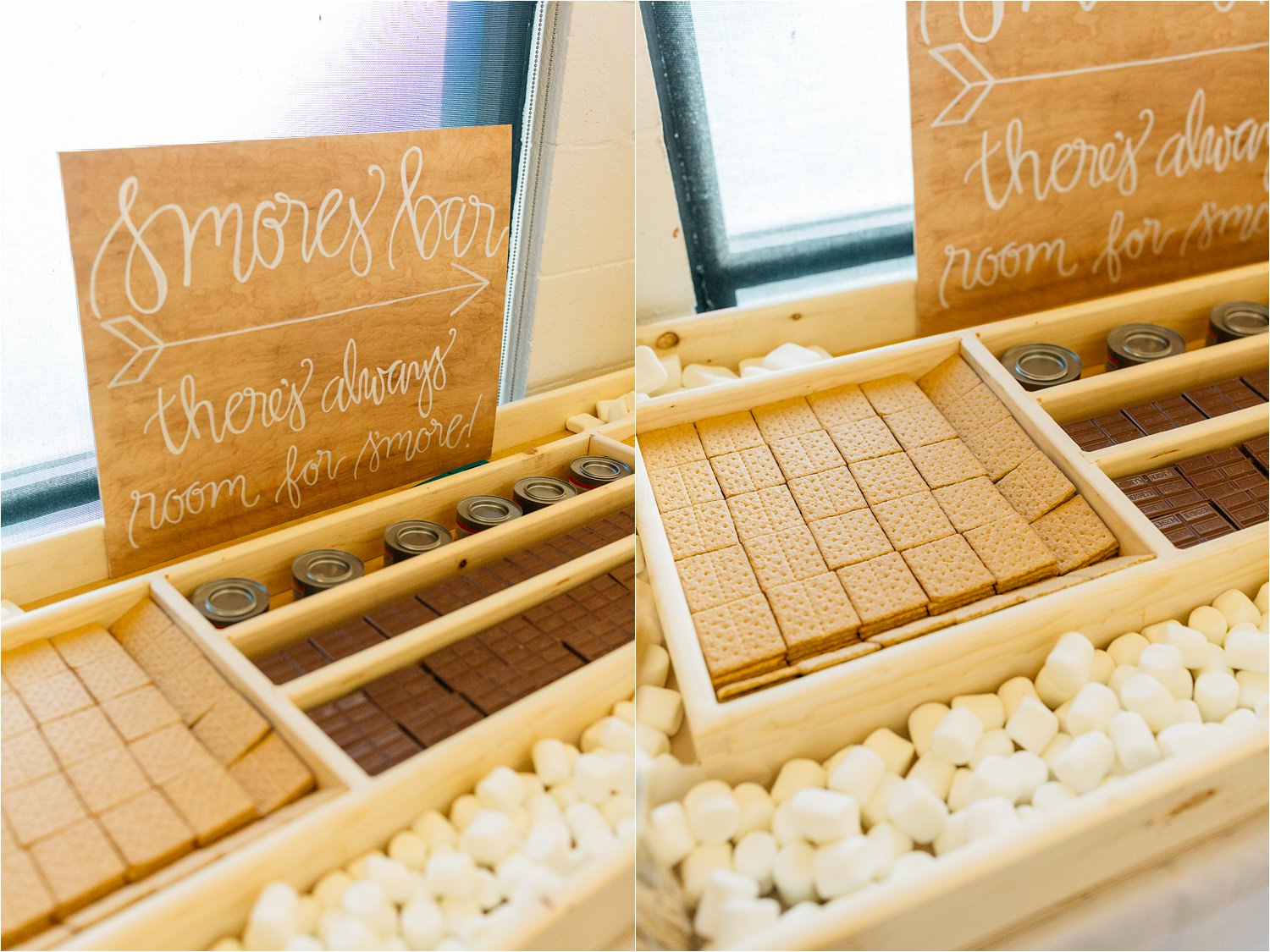 Smores Bar - Wedding Reception Details - https://brittneyhannonphotography.com