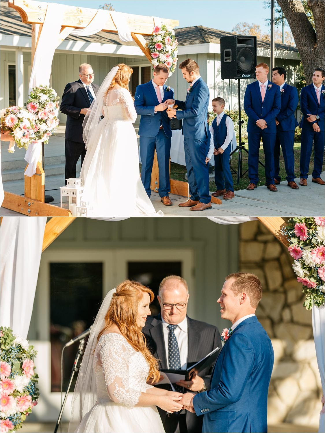 Exchanging of vows and rings - McCoy Equestrian Wedding - Chino Hills, CA - https://brittneyhannonphotography.com