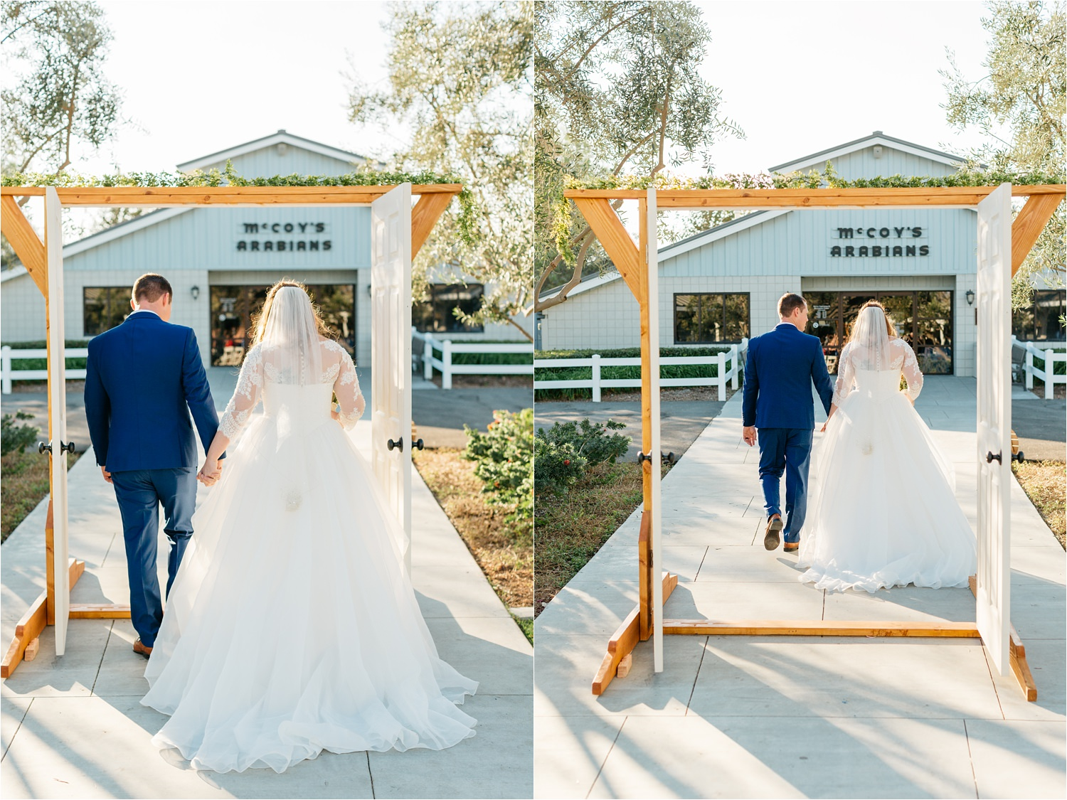 Recessional - Bride and Groom walking down the aisle - https://brittneyhannonphotography.com