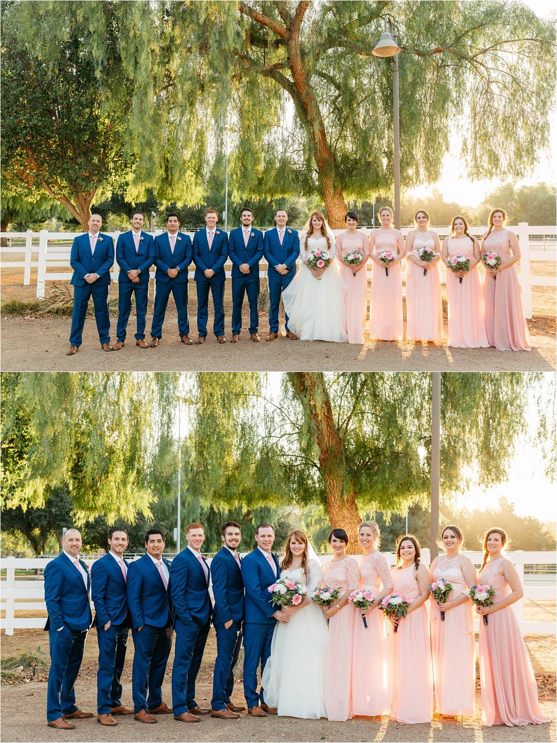 Wedding Party Photos - Fall Wedding in California - https://brittneyhannonphotography.com