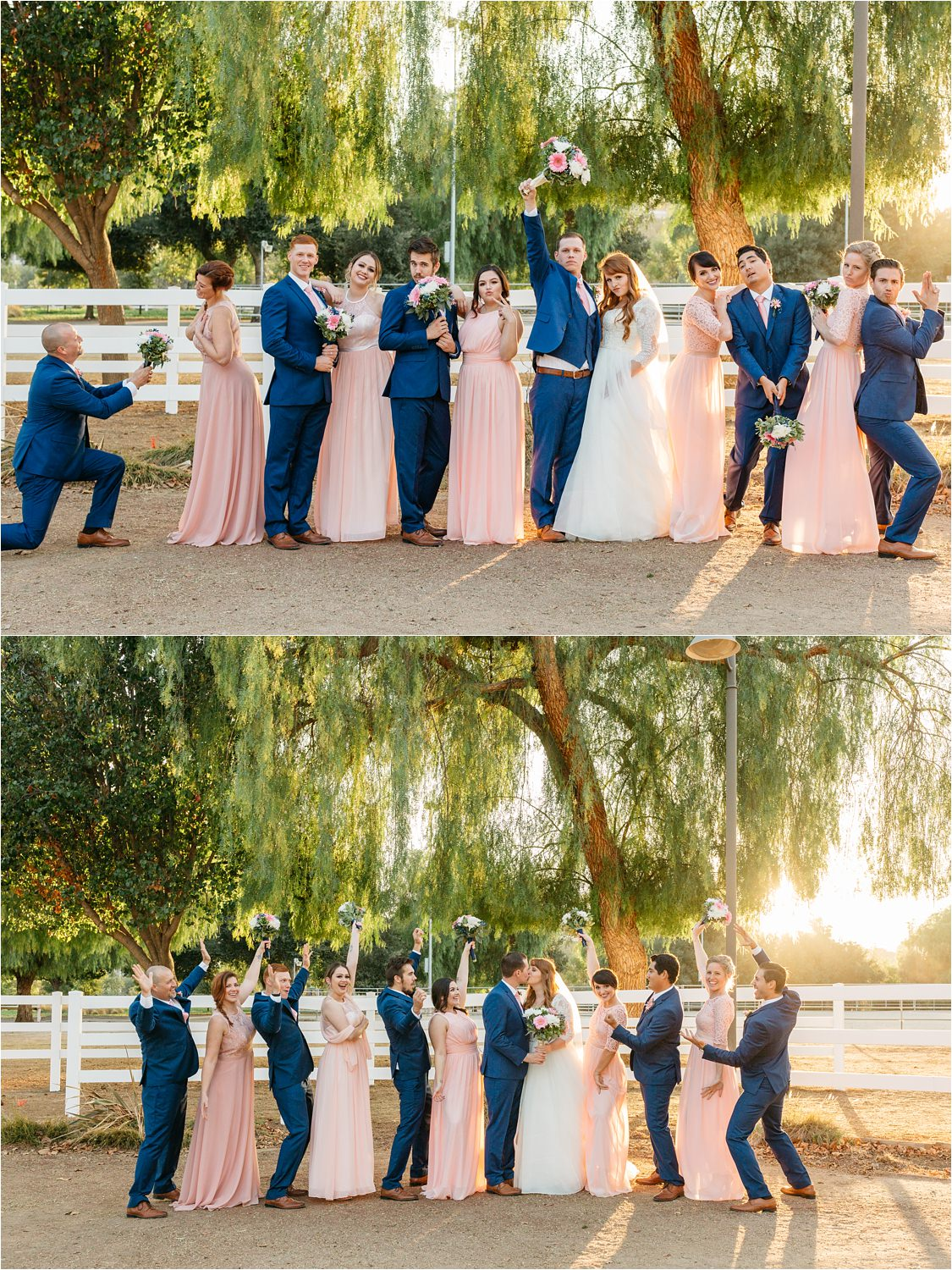 Fun Wedding Party Photos - Fall Wedding in Southern California - Chino Hills, CA - https://brittneyhannonphotography.com