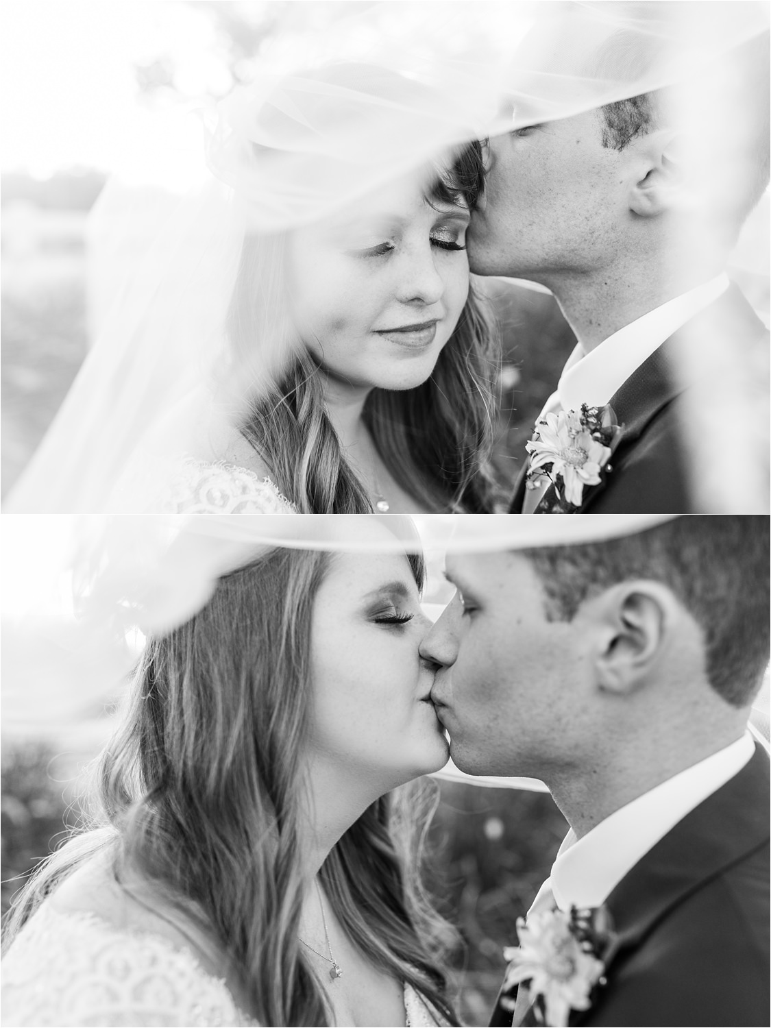 Romantic black and white wedding photography - https://brittneyhannonphotography.com