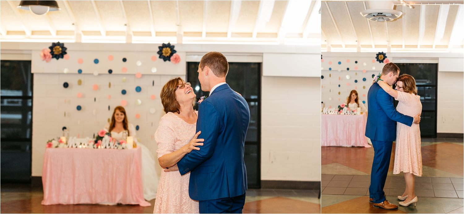 Groom dancing with his Mom - Mother Son Dance - https://brittneyhannonphotography.com