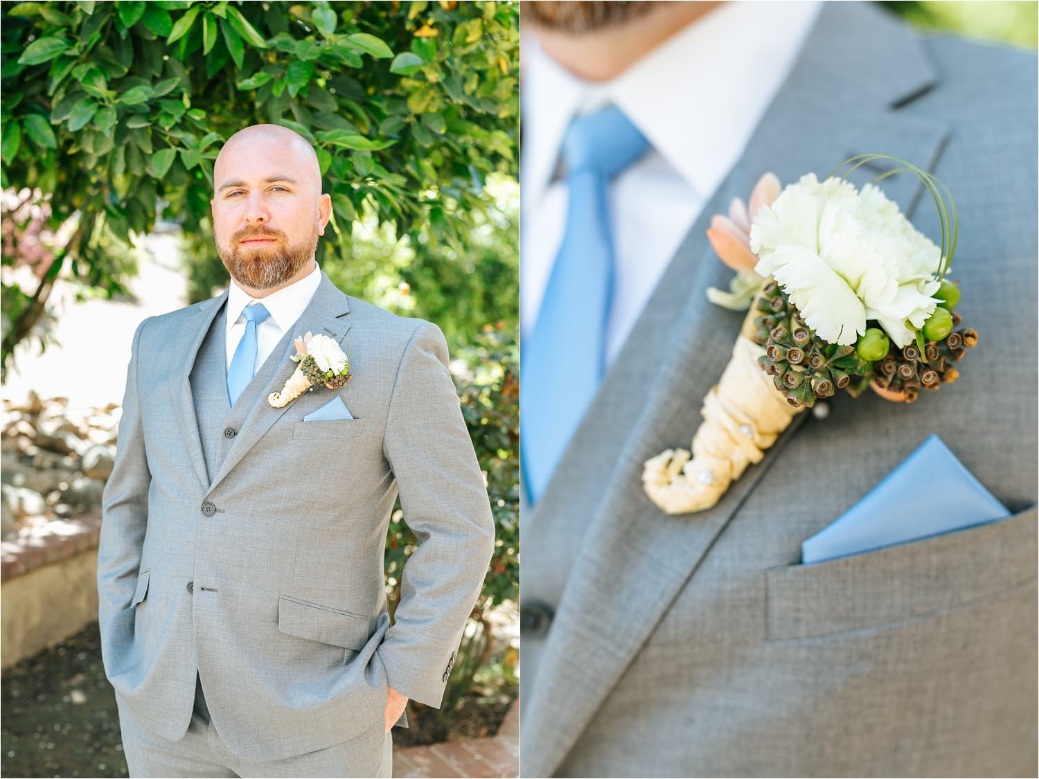 Groom and Groom Boutonniere - https://brittneyhannonphotography.com