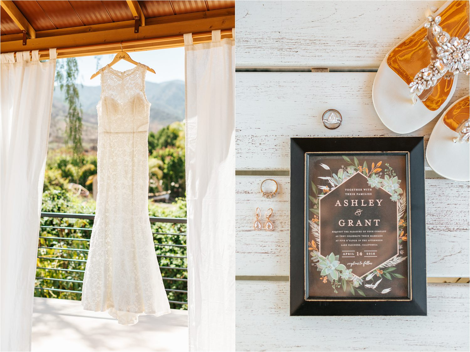 David's Bridal Wedding Dress - Elegant DIY Backyard Wedding - https://brittneyhannonphotography.com