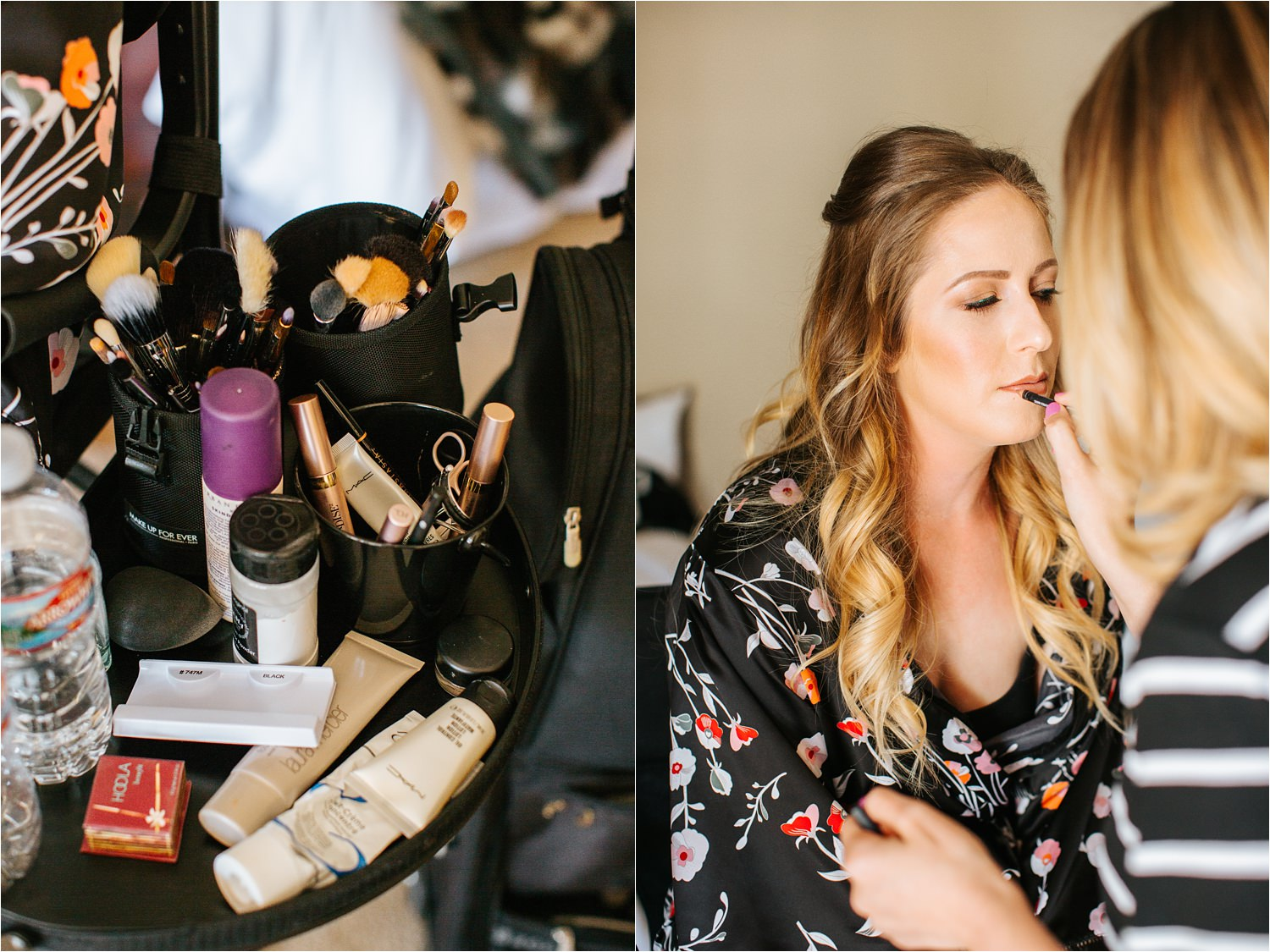 Bride Getting Hair and Makeup done - https://brittneyhannonphotography.com