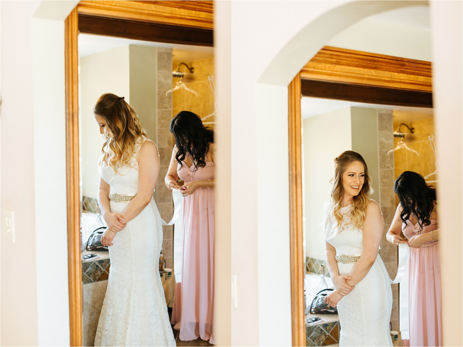 Bride getting ready to walk down the aisle - https://brittneyhannonphotography.com