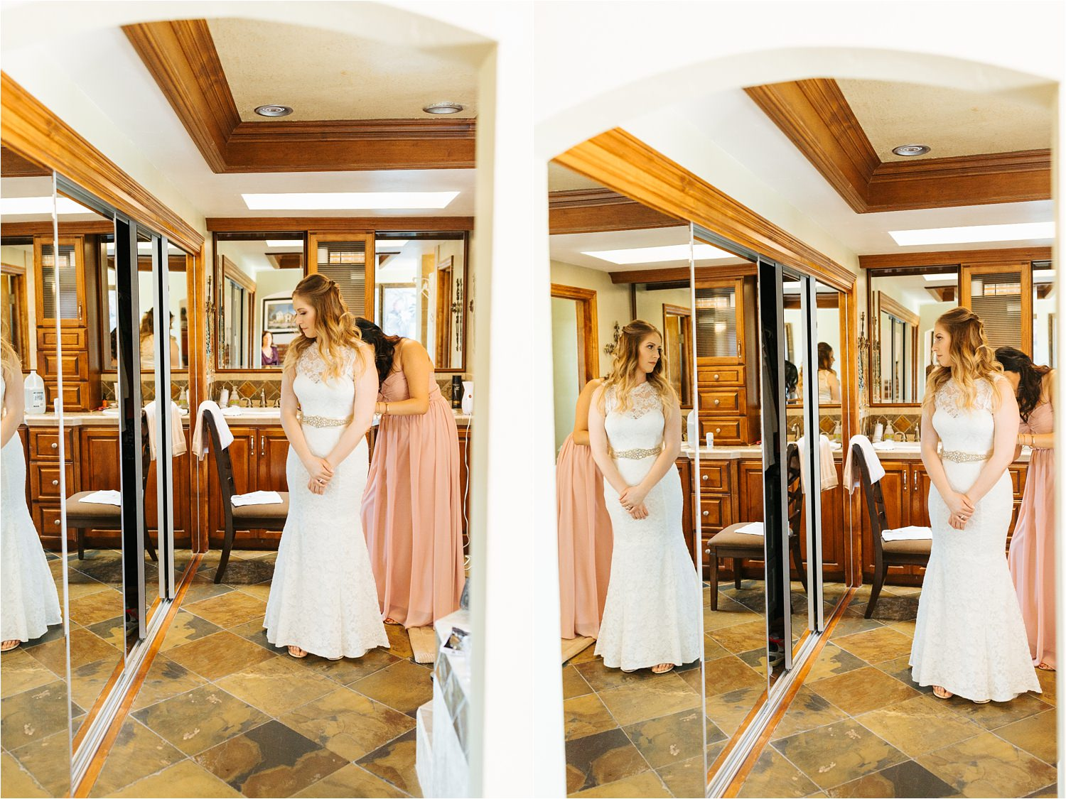 Mirror Photos of bride getting ready - https://brittneyhannonphotography.com
