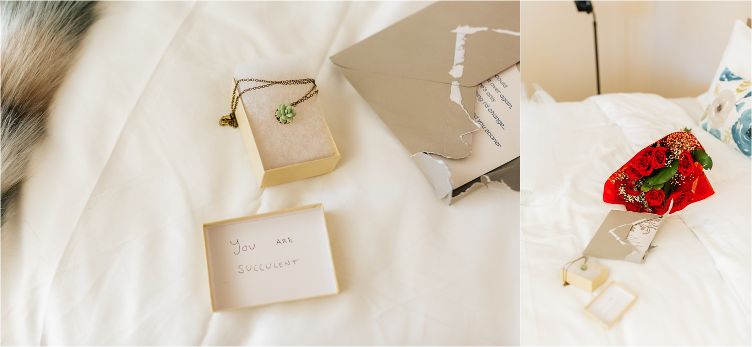 Groom's gift for his bride - https://brittneyhannonphotography.com