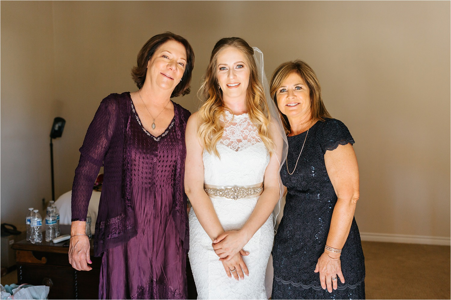 Bride with Mother and Mother in law - https://brittneyhannonphotography.com