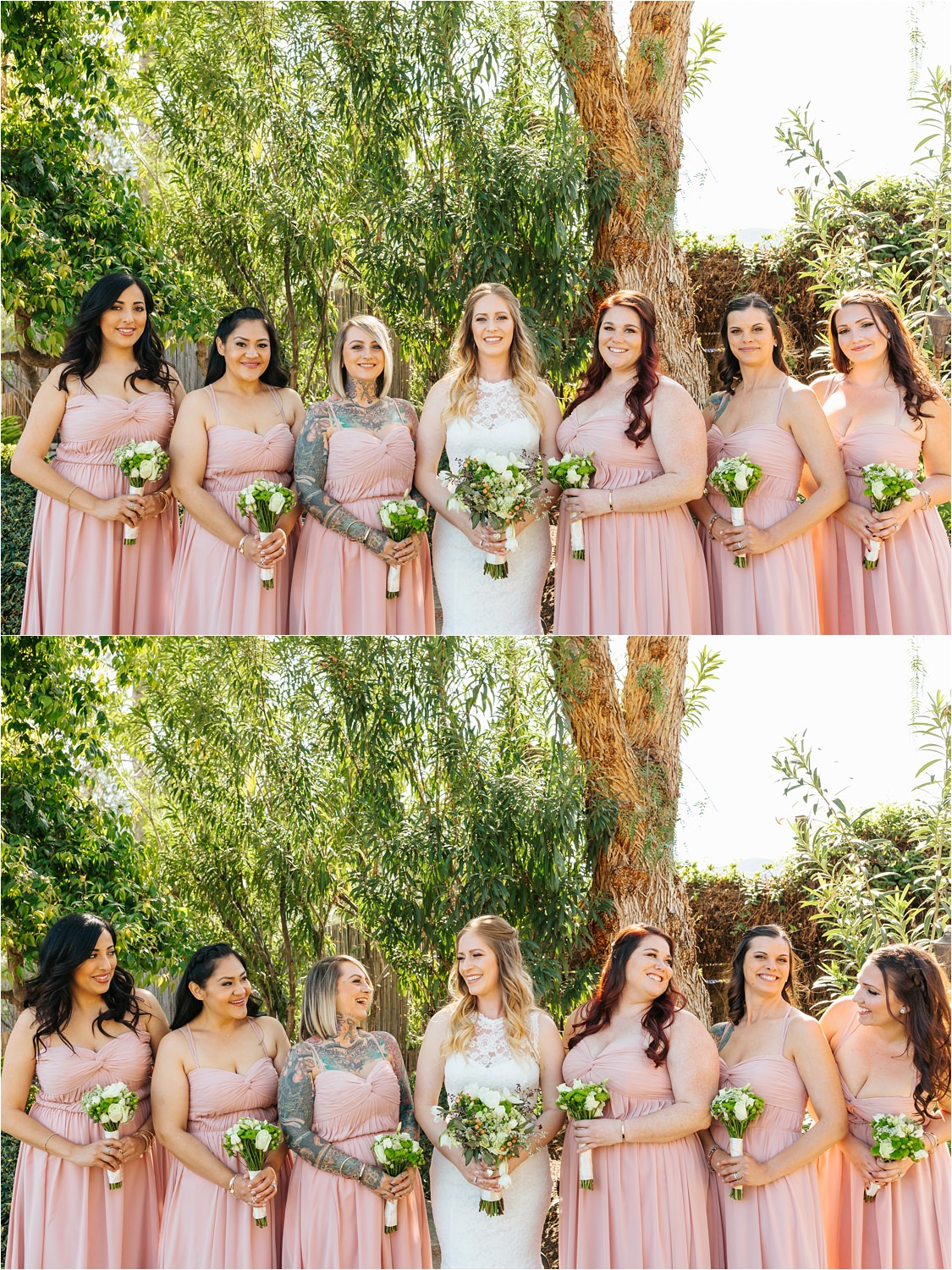 Beautiful bride and bridesmaids photos - https://brittneyhannonphotography.com
