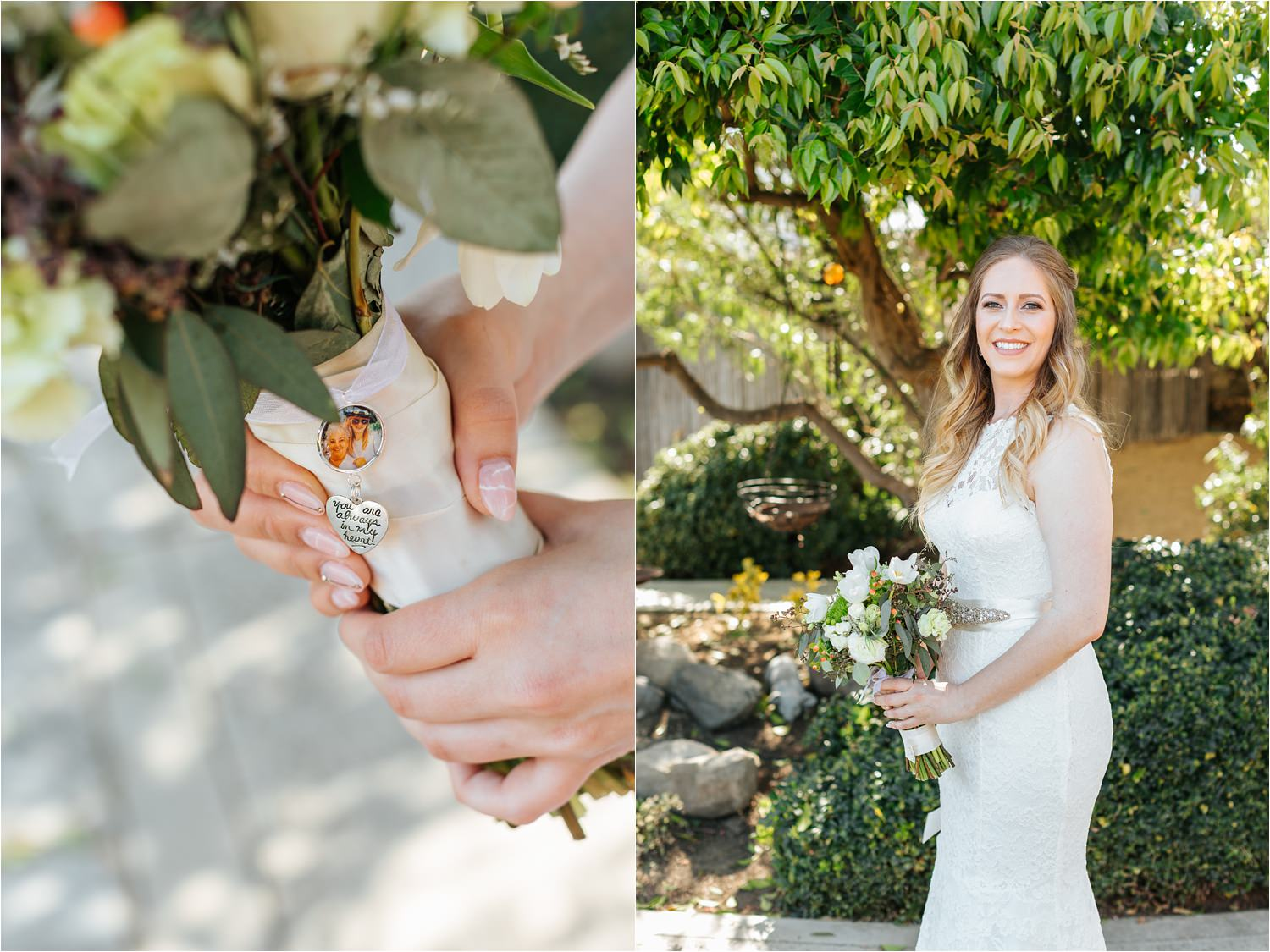 Bride with her bouquet - https://brittneyhannonphotography.com
