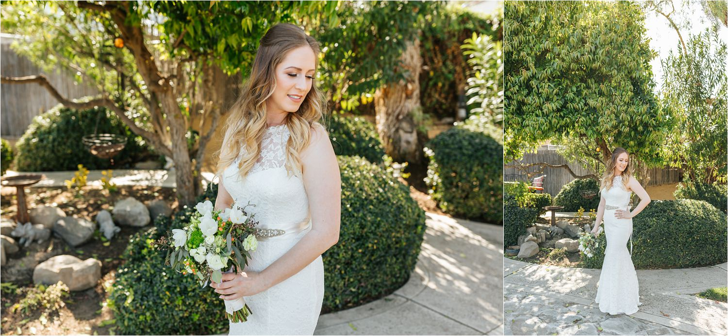 Beautiful backyard wedding - Bridal portraits - https://brittneyhannonphotography.com