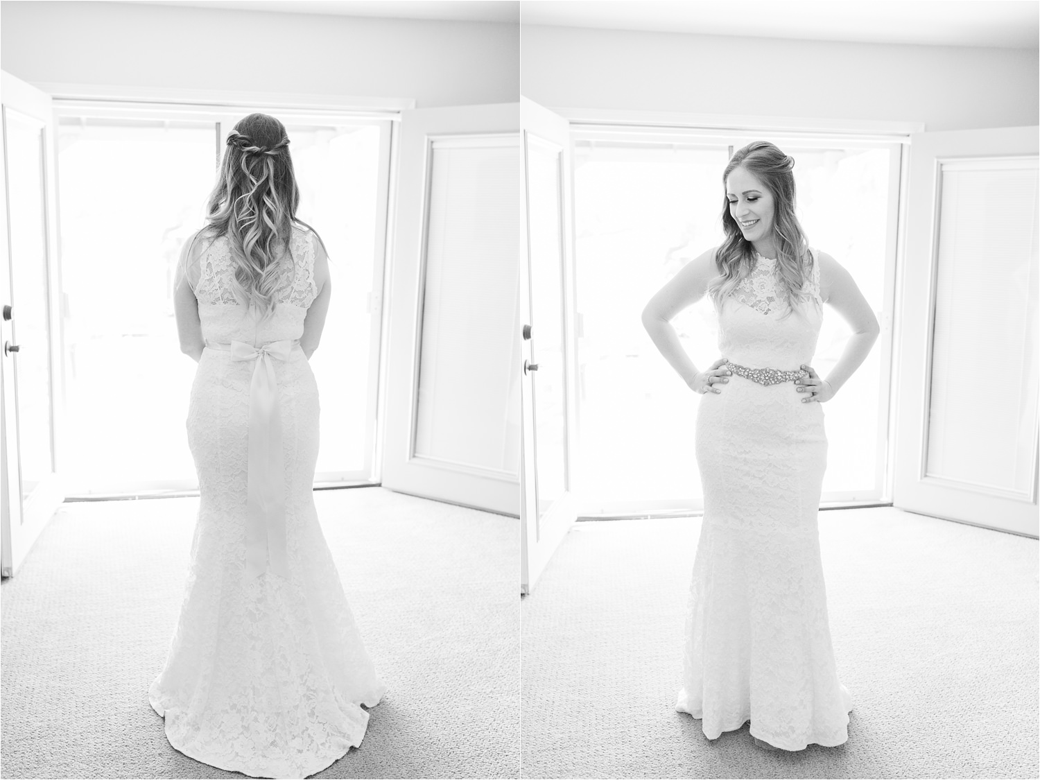 Black and White Natural Light Wedding Photos - https://brittneyhannonphotography.com
