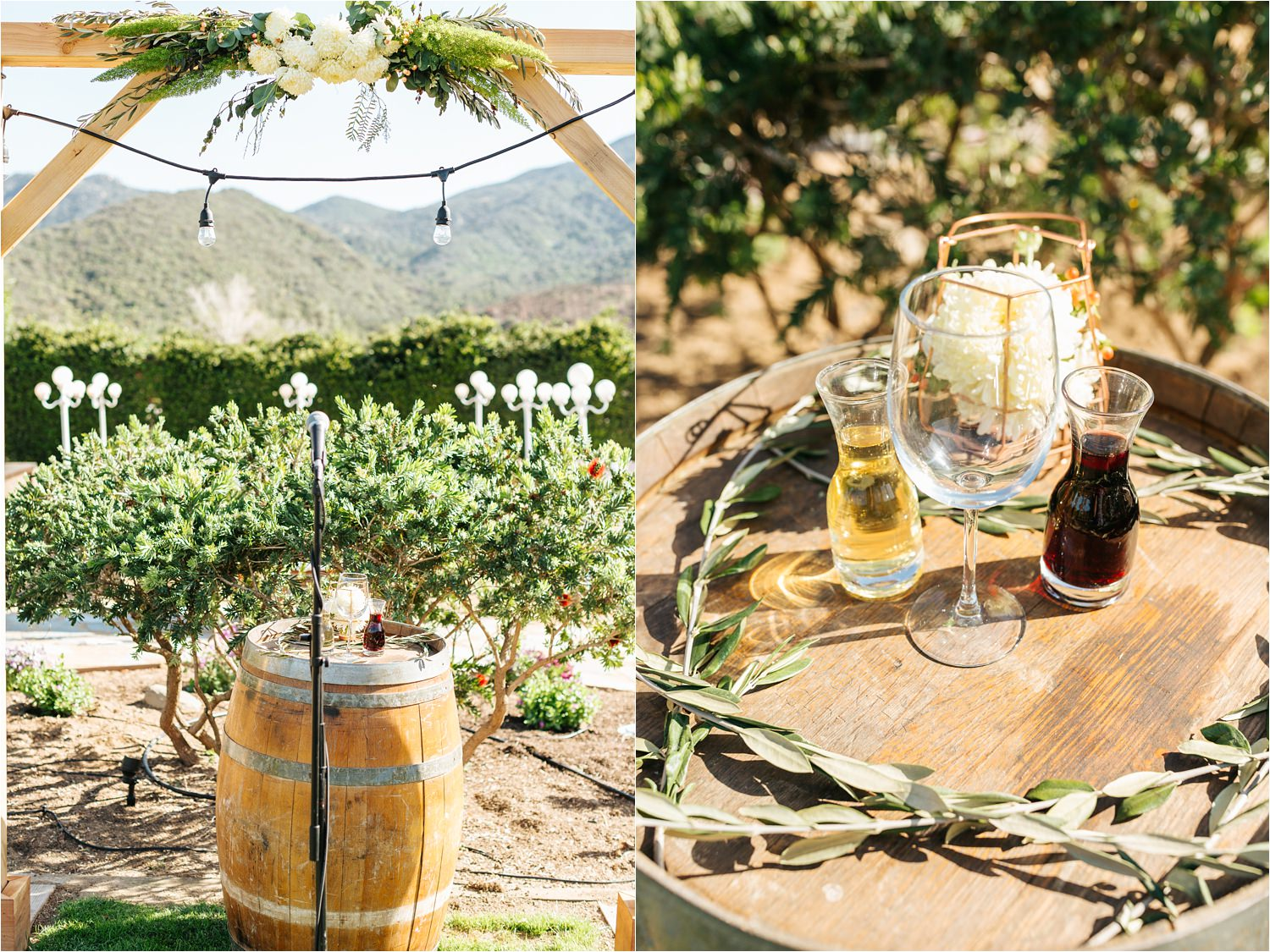 Dreamy backyard wedding details - Ceremony decor - DIY wedding in California - https://brittneyhannonphotography.com