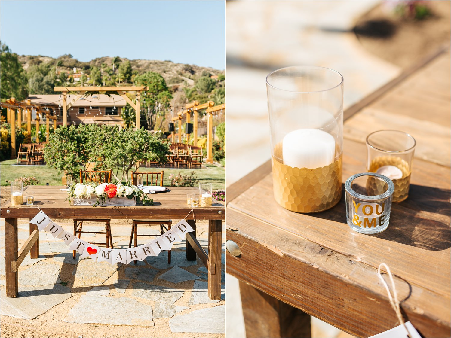 Dreamy backyard wedding details - DIY wedding in California - https://brittneyhannonphotography.com
