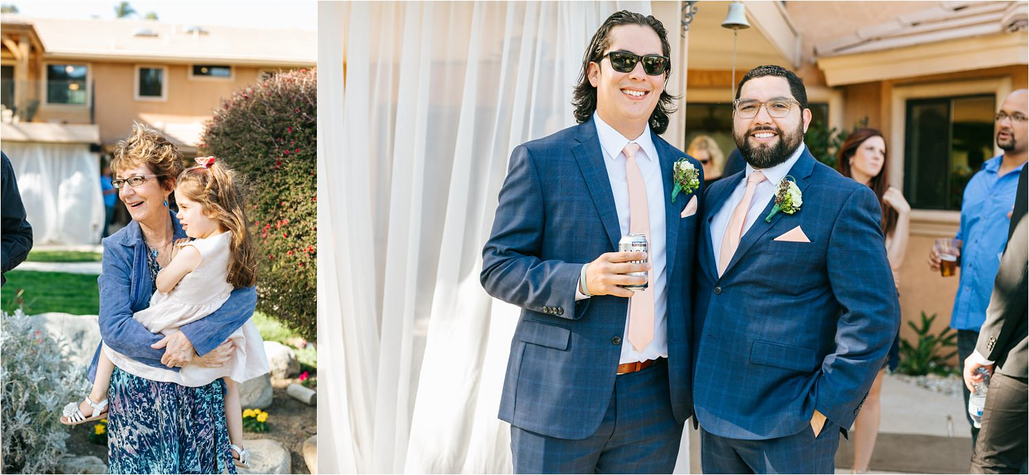 Wedding guests - backyard wedding details - DIY wedding in California - https://brittneyhannonphotography.com