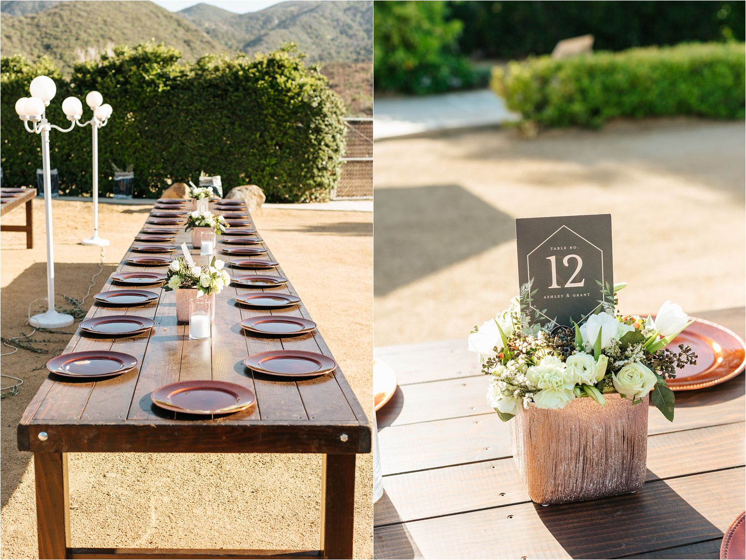 Reception details - backyard wedding details - DIY wedding in California - https://brittneyhannonphotography.com
