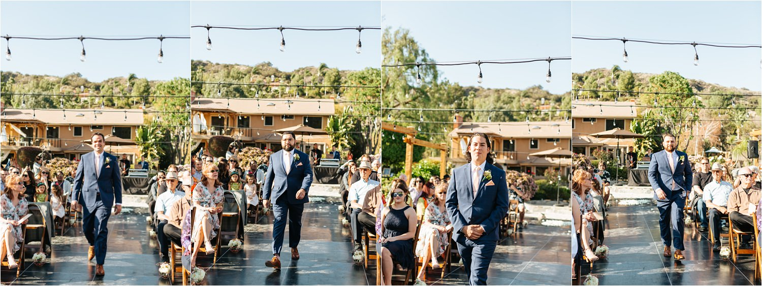 Backyard Wedding Ceremony - https://brittneyhannonphotography.com