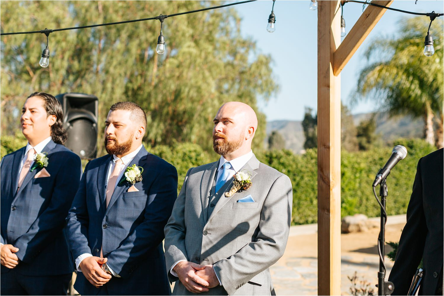 Groom seeing bride for the first time - Backyard Wedding - https://brittneyhannonphotography.com